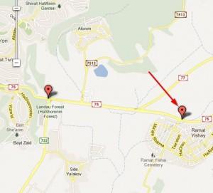 gatso-kvish-75-ramat-ishay-map